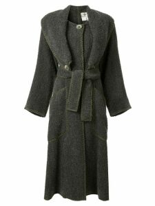 Fendi Pre-Owned long coat - Grey