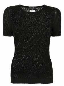 Chanel Pre-Owned CC short sleeve top - Black