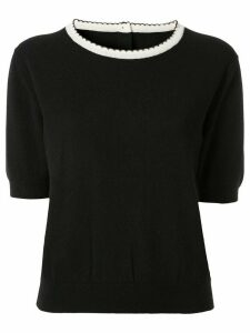 Chanel Pre-Owned short sleeve knit top - Black