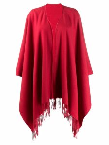 Moschino Pre-Owned 1990s fringed poncho - Red