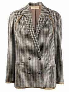 Versace Pre-Owned '1980s houndstooth jacket - Black