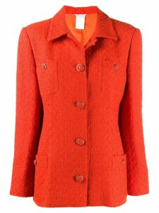 Versace Pre-Owned '1980s buttoned jacket - ORANGE