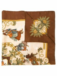 Hermès Pre-Owned Jois d' hivier printed scarf - NEUTRALS