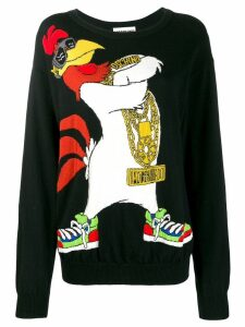 Moschino Pre-Owned Looney Tunes Foghorn Leghorn sweater - Black