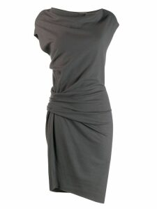 Helmut Lang Pre-Owned '1990s ruched dress - Grey