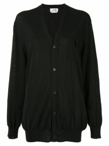 Hermès Pre-Owned Long Sleeve Cardigan - Black