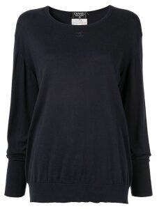 Chanel Pre-Owned 1995 embroidered interlocking CC jumper - Blue