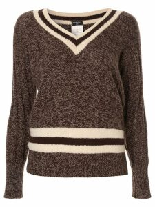 Chanel Pre-Owned cashmere V-neck jumper - Brown