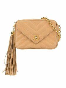 Chanel Pre-Owned V-stitch Bijoux chain shoulder bag - Brown