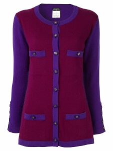 Chanel Pre-Owned cashmere elongated cardigan - Purple