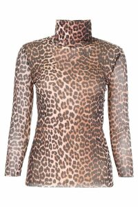 Ganni Leopard-printed Blouse