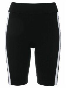 No Ka' Oi side stripe bike shorts - Black