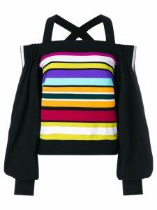No Ka' Oi off-shoulder striped sweatshirt - Multicolour