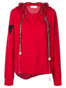 No Ka' Oi chain drawstring hoodie - Red