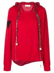 No Ka' Oi chain drawstring hoodie - Red