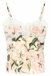 Dolce & Gabbana Lily Print Lingerie Top