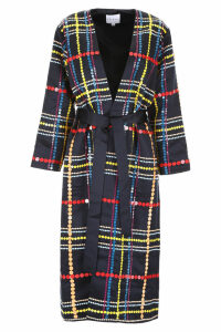 Mira Mikati Wrap Coat With Sequins