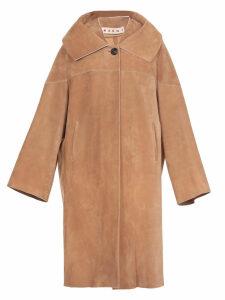 Marni Suede Leather Coat
