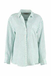 Weekend Max Mara Tarocco Striped Linen Shirt