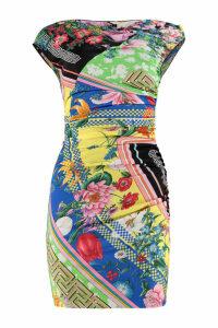Versace Draped Jersey Sheat-dress