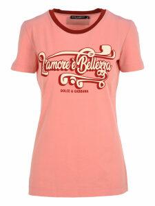 Dolce & gabbana Dolce & Gabbana lamore è Bellezza Print T-shirt