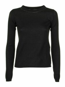 Max Mara Solange Diamante-embellished Silk And Cashmere-blend Jumper