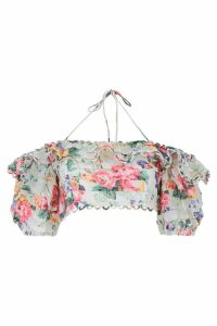Zimmermann Floral Printed Crop Top