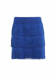 Alberta Ferretti Charleston Style Fringed Mini Skirt J01251616296