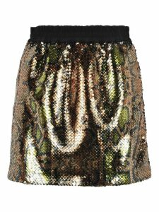 N21 Sequins Embroidered Mini Skirt