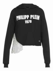 Philipp Plein Croopped Sweatshirt With Logo
