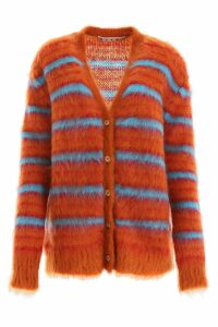 Marni Striped Mohair Cardigan