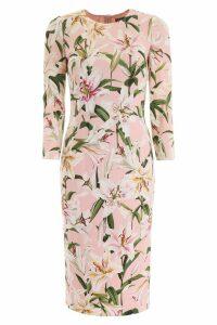 Dolce & Gabbana Lily Print Cady Dress