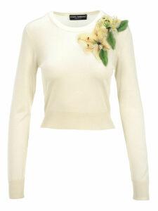 Dolce & gabbana Floral Appliqué Jumper