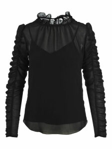 See By Chloe Blouse With Gathered Sleeves