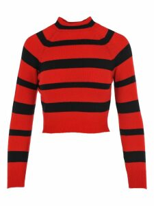 Miu Miu Cropped Stripe Jumper