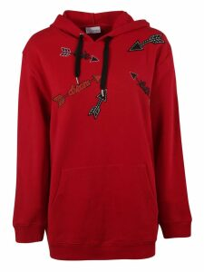 RED Valentino Arrow Patch Hoodie