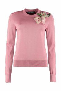 Dolce & Gabbana Embroidered Crew-neck Sweater