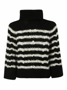 RED Valentino Turtleneck Woven Sweater
