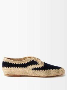 Adriana Degreas - Aglio-print Silk Crepe De Chine Blouse - Womens - White Print