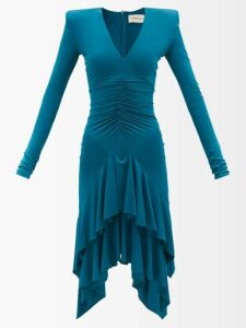 Loup Charmant - Pico Jacquard Stripe Cotton Blouse - Womens - White