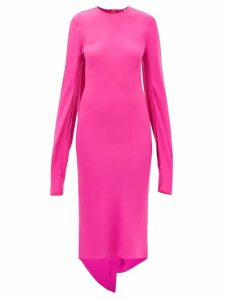 Muzungu Sisters - Frangipani Embroidered Mushroom-print Silk Dress - Womens - Red Multi