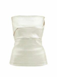 Gioia Bini - Camilla Ruffle-trim Linen Dress - Womens - Yellow Multi
