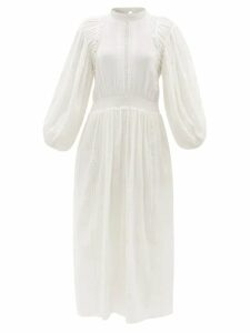 Dolce & Gabbana - Lily-appliqué Silk Sweater - Womens - Pink