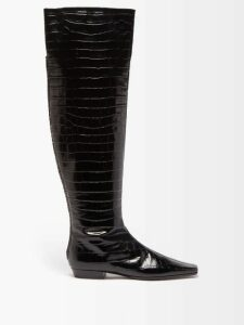 Diane Von Furstenberg - Eloise Spot Print Wrap Silk Dress - Womens - Navy Multi
