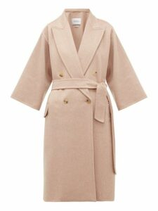 Max Mara - Risorsa Wrap Coat - Womens - Light Pink