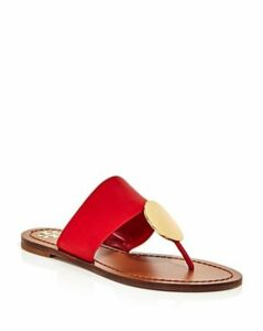 Tory Burch Women's Patos Disc Leather Thong Sandals