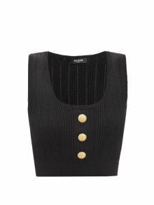 Mm6 Maison Margiela - Logo-jacquard Wool-blend Sweater - Womens - Grey