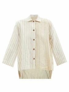 Gucci - Web-stripe Single-breasted Twill Jacket - Womens - Ivory Multi