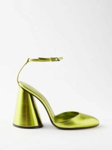 Sea - Luna Puff-sleeve Cotton-poplin Blouse - Womens - Yellow