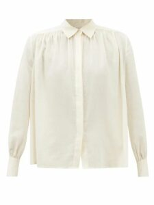 Marques'almeida - Ostrich Feather Trim Cotton Cardigan - Womens - Yellow